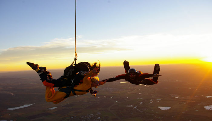 Tandem Sunset jump